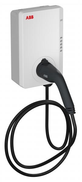 ABB Wallbox 22kW Typ2 mit RFID und geeichtem Zähler (MID) mit 5 Meter Kabel